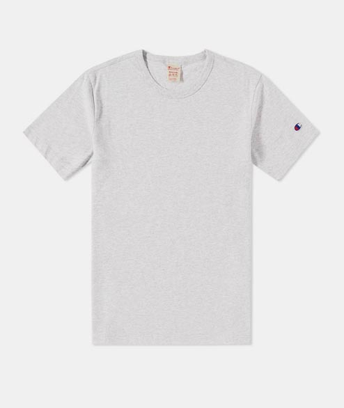 Champion - Crewneck Tee Shirt - Heather Grey