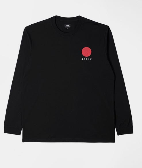 Edwin - Japanese Sun Long Sleeve - Black