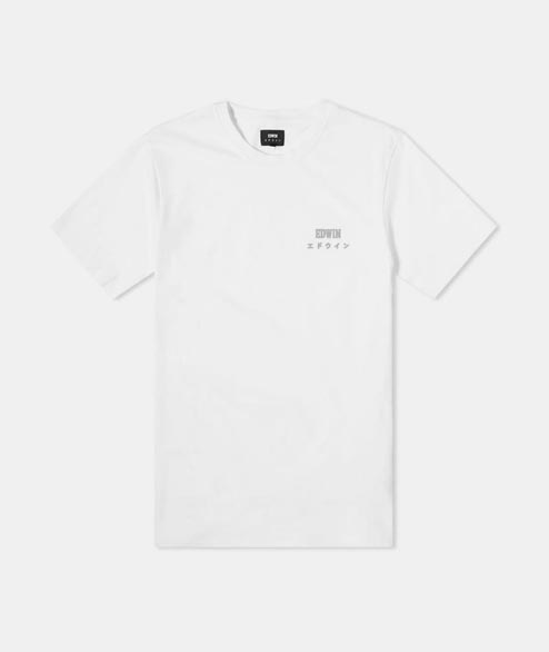 Edwin - Edwin Logo Chest Ts - White