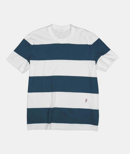 FUTUR - Stripe Tee - Paon Green White