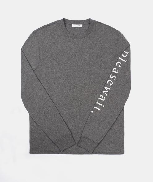 FUTUR - Pleasewait LS - Dark Heather Grey