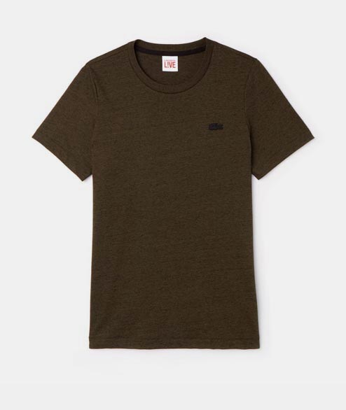 Lacoste Live - Cotton Jersey T-Shirt - Heather Green