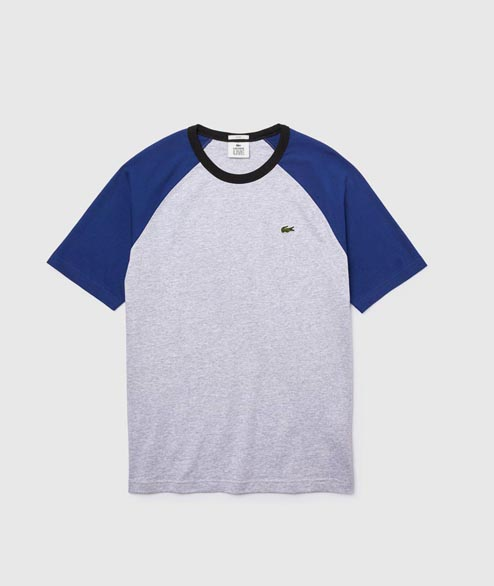 Lacoste Live - Baseball Tee - Grey Blue