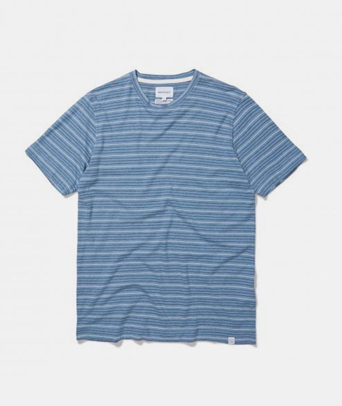 Norse Projects - James Fine Stripe - White Navy