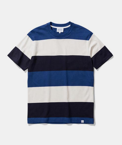Norse Projects - Johannes Border Stripe - Twilight Blue