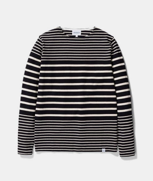 Norse Projects - Godtfred Classic Compact LS - Black Stripe