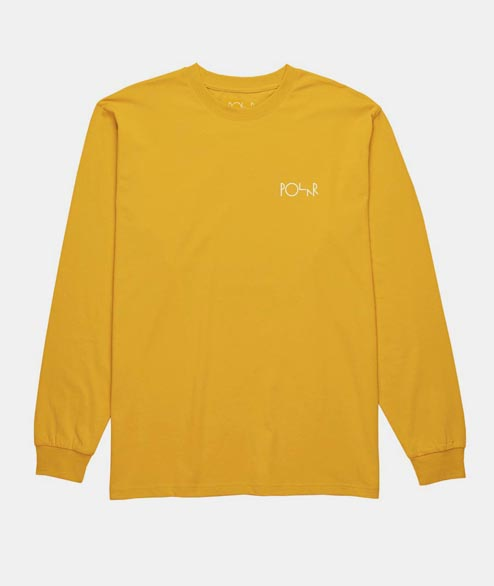Polar Skate Co. - Stroke Logo Long Sleeve - Yellow