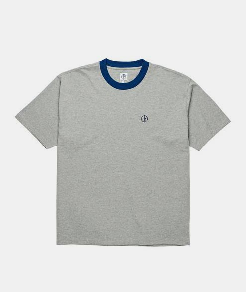 Polar Skate Co. - Ringer Tee - Heather Grey Navy