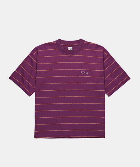 Polar Skate Co. - Checkered Surf Tee - Wine Red