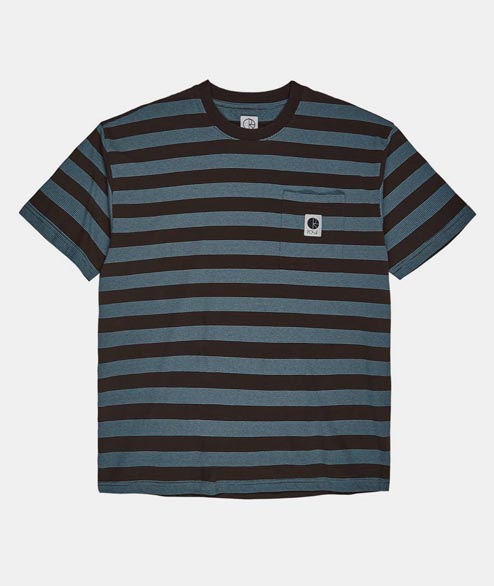 Polar Skate Co. - Stripe Pocket Tee - Brown Blue