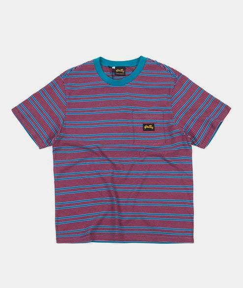 Stan Ray - Yarn Dye Stripe T Shirt - Parrot