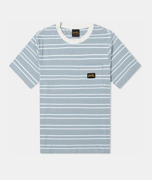 Stan Ray - Yarn Dye Stripe T Shirt - Clean Blue