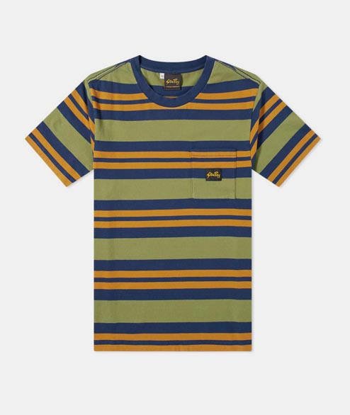 Stan Ray - Yarn Dye Stripe - Navy Border Stripe