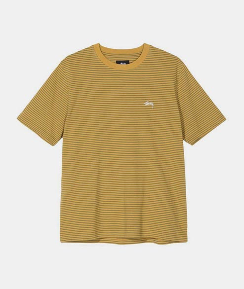 Stussy - Mini Stripe Crew - Must Mustard