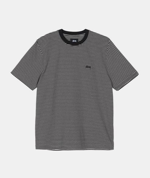 Stussy - Mini Stripe Crew - Black
