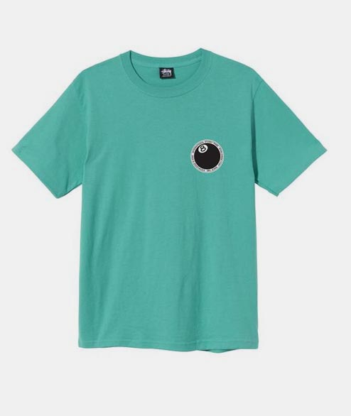 Stussy - 8 Ball Dot Tee - Green