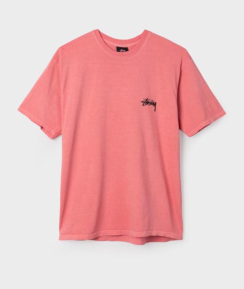 Stussy - 8 Ball Pig Dyed Tee - Pink