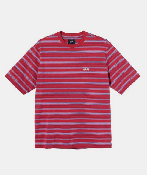 Stussy - Heather Stripe Crew - Red