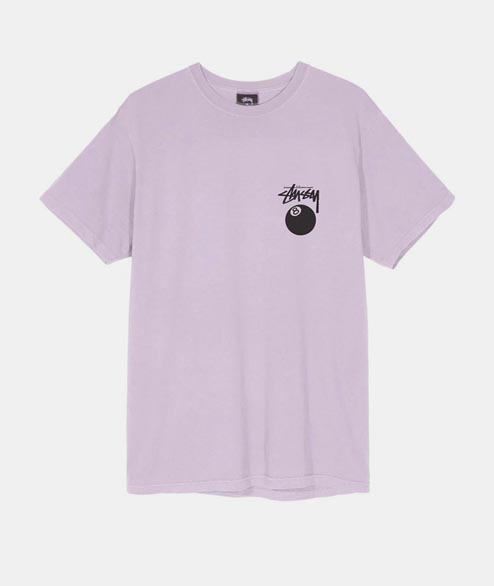 Stussy - 8 Ball Pigment Dyed Tee - Lavender