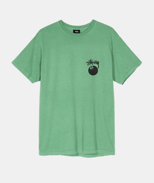 Stussy - 8 Ball Pigment Dyed Tee - Moss