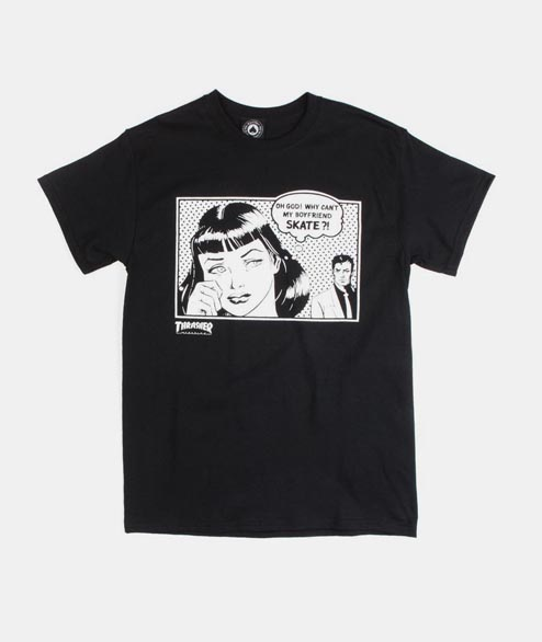 Thrasher - Boyfriend - Black