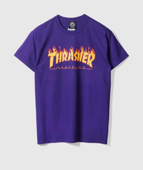 Thrasher - Flame Logo - Purple