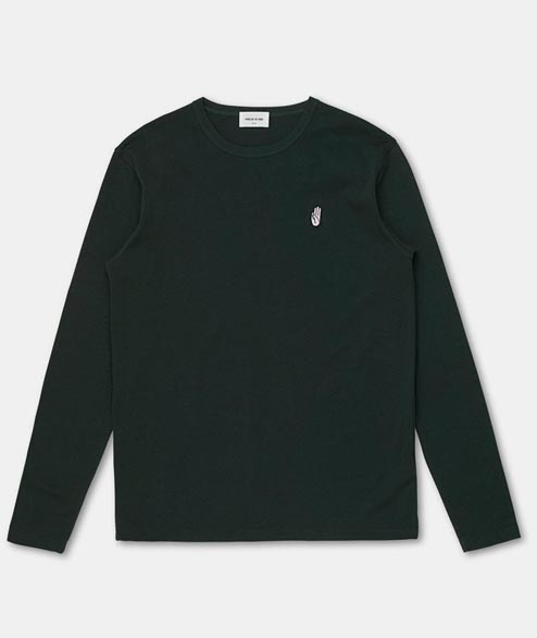 Wood Wood - Archway Long Sleeve - Dark Green