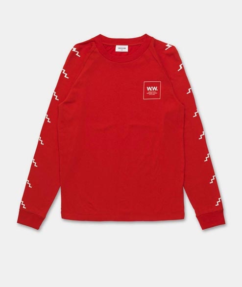 Wood Wood - Han Longsleeve - Burnt Red