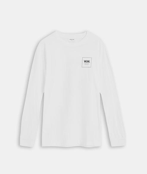 Wood Wood - Han Long Sleeve - Bright White