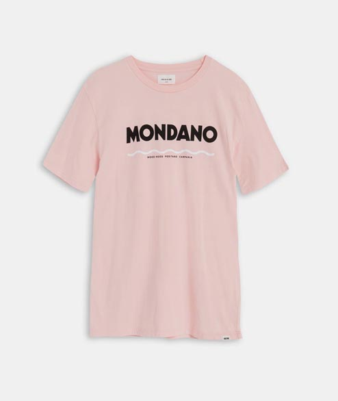 Wood Wood - Mondano T Shirt - Light Pink
