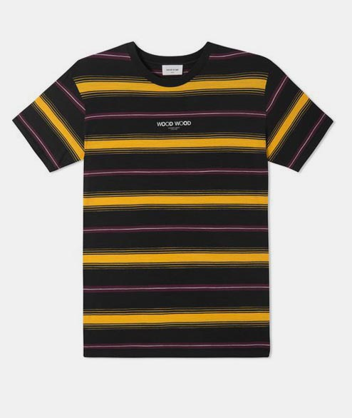 Wood Wood - Perry Tee - Yellow Stripe