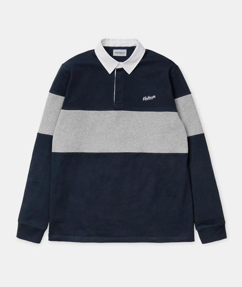 Carhartt WIP - Vintage Brush Rugby Polo - Navy White