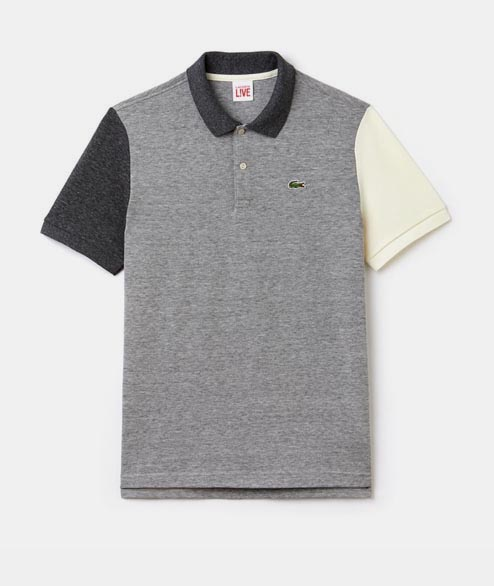 Lacoste Live - Colorblock Polo - Grey White