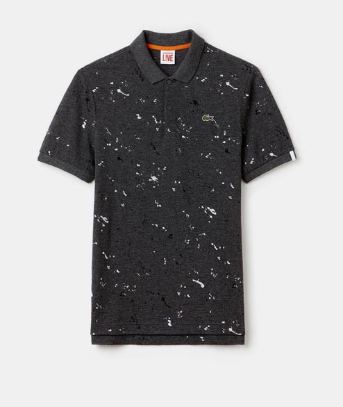 Lacoste Live - Speckled Print Polo - Chartreux Mouline
