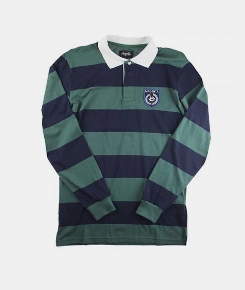 Magenta - Rugby Polo - Green Navy