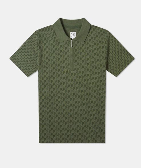 Polar Skate Co. - Zip Pique Polo - Hunter Green