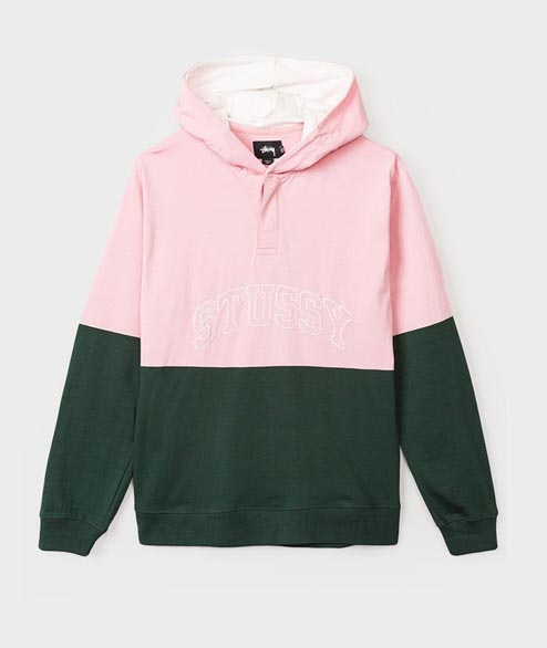 Stussy - Block Hooded Jersey - Pine