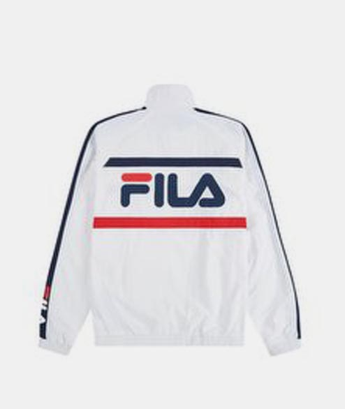 FILA - Jona Woven Zip Jacket - White Navy
