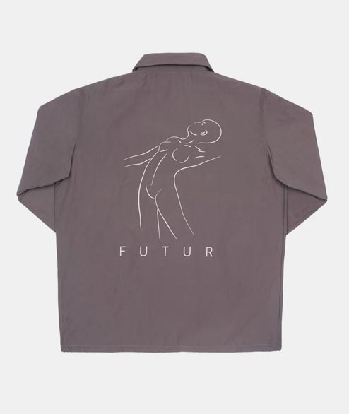Futur - Lux Coach Jacket - Grey