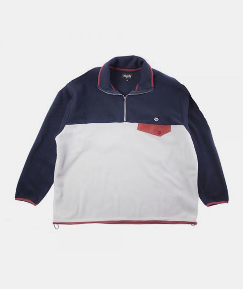 Magenta - North Tricolor Fleece - Grey  Navy Burgundy