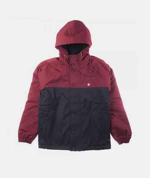 Magenta - Heavy Hooded Coach - Burgundy Black