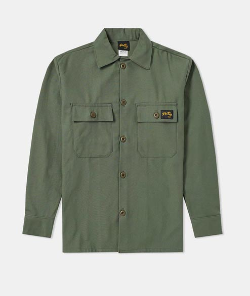 Stan Ray - 2 Pocket Jacket - Olive Sateen