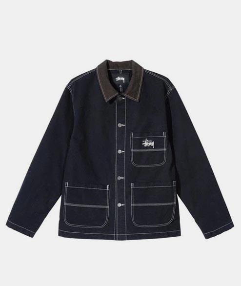 Stussy - Brushed Moleskin Work Jacket - Navy