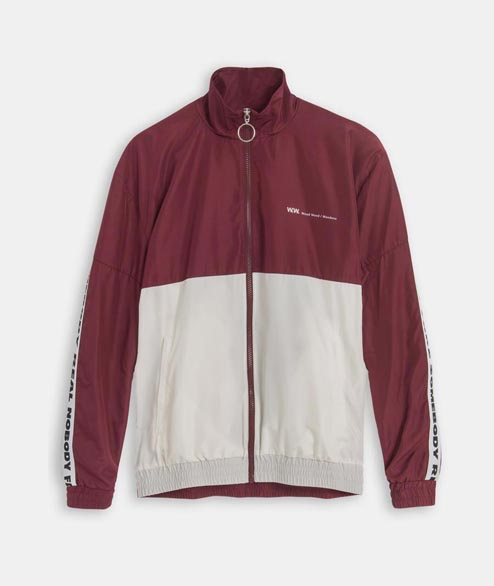 Wood Wood - Homer Jacket - Dark Red Off White