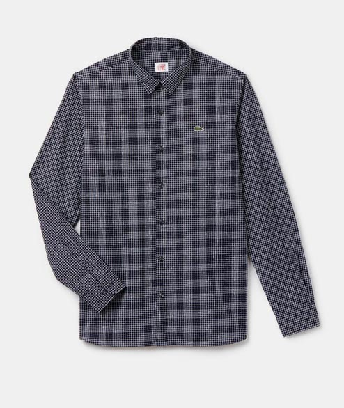 Lacoste Live - Small Plaid Shirt - Navy
