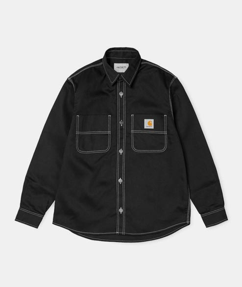 Carhartt WIP - Chalk Shirt - Cotton Black Rigid