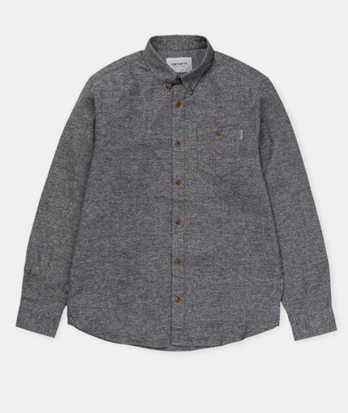 Carhartt WIP - LS Cram Shirt - Dark Grey Heather
