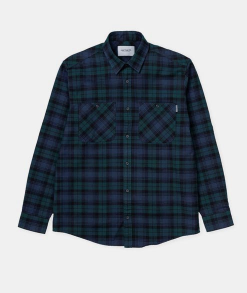 Carhartt WIP - LS Pelkley Shirt - Dark Fir Blue