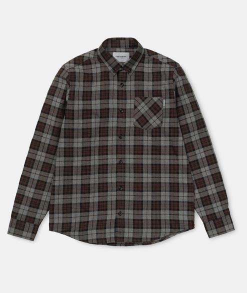 Carhartt WIP - Norton Shirt - Dark Grey Heather Check
