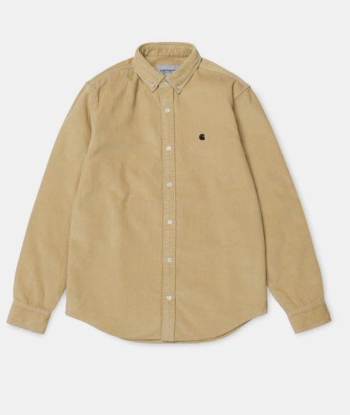 Carhartt WIP - L/S Madison Cord Shirt - Ceramics/Black
